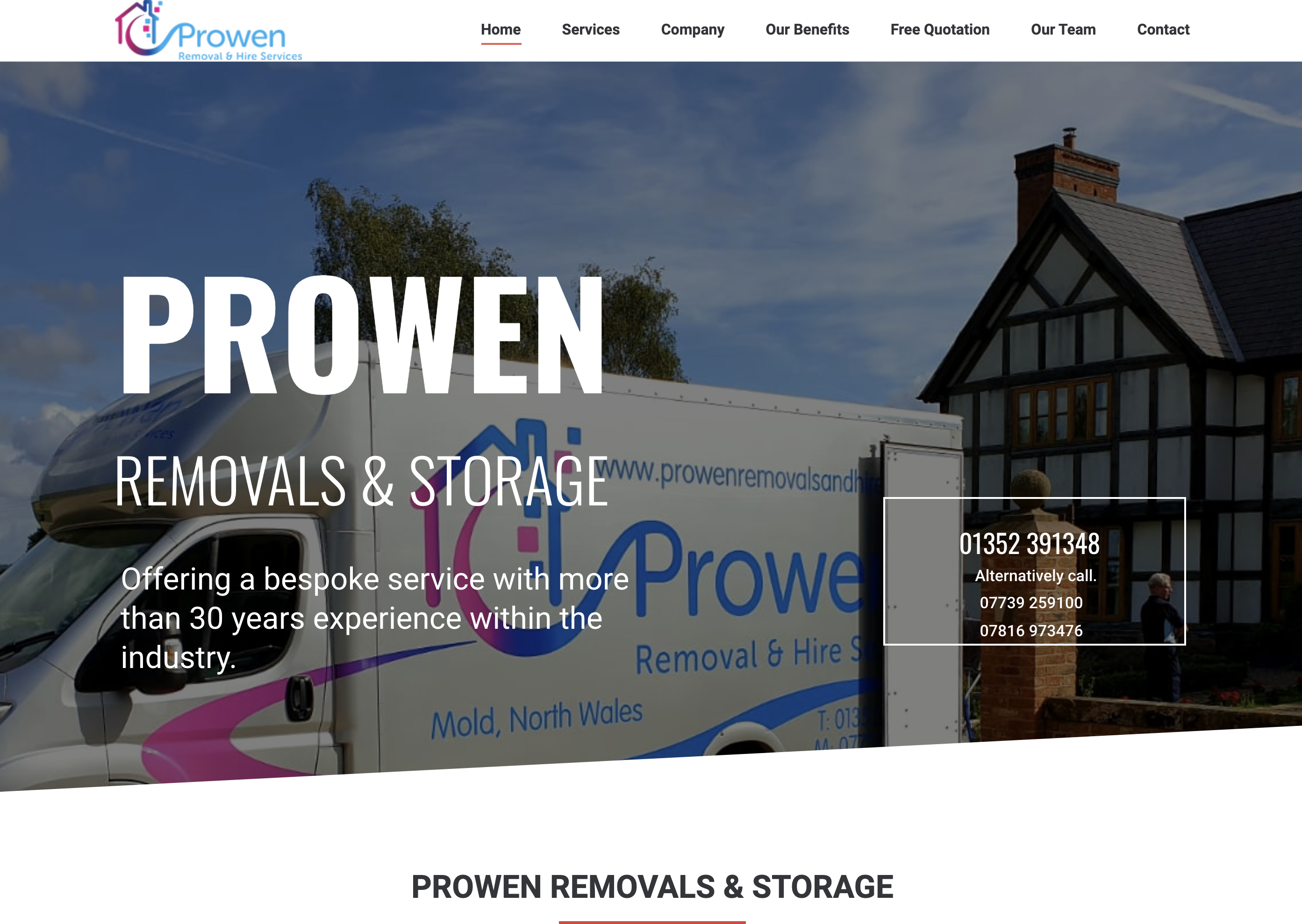 Prowen Removals built by Thedm Ltd